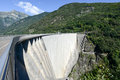 The Dam Of Verzasca On The Swiss Alps Royalty Free Stock Images - 44160519