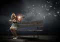 Girl With Violin Royalty Free Stock Photos - 44169478