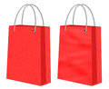 Red Kraft Shopping Paper Bags Royalty Free Stock Photo - 44171185