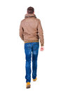 Back View Of Going  Handsome Man In Jeans And Jacket. Stock Image - 44173781