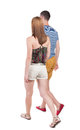 Back View Going Couple. Royalty Free Stock Image - 44176626