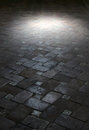 Spot Light On An Ancient Floor Of Tiles Royalty Free Stock Photography - 44179097