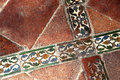Glazed Tiles Of An Ancient  Floor, Crossed Stock Images - 44179144