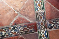 Glazed Tiles Of An Ancient  Floor, Crossed Royalty Free Stock Images - 44179199