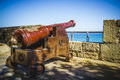 Defense, Spanish Cannon Pointing Out To Sea Fortress Stock Image - 44184651