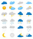 Set Of 24 Colorful Weather Icons Royalty Free Stock Photo - 44185705