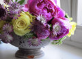 Flower Wedding Arrangement With Ranunculus, Pion, Roses Stock Photos - 44186603