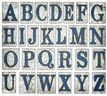 New Orleans Street Tiles Digital Alphabet Stock Image - 44197041