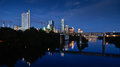 Lady Bird Lake And Downtown Austin By Night Royalty Free Stock Image - 44208056