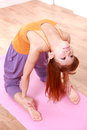 Young Japanese Woman Doing YOGA Camel Pose Stock Photo - 44210990
