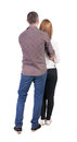 Back View Of Young Embracing Couple Royalty Free Stock Photos - 44216508