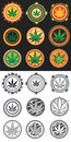 Cannabis And Marijuana Product Symbol Stamps  Stock Images - 44222044