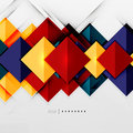 Geometric Squares And Rhombus Futuristic Template Royalty Free Stock Photography - 44222427