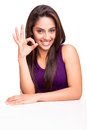 Woman Showing OK Sign Royalty Free Stock Photos - 44232418