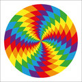 Circle Of Abstract Psychedelic Rainbow Royalty Free Stock Photography - 44236207