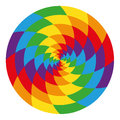 Circle Of Abstract Psychedelic Rainbow Stock Image - 44236251