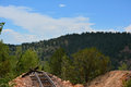 Railroad Track End Of Line Royalty Free Stock Photos - 44237618