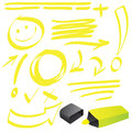 Highlighter Doodle Royalty Free Stock Photography - 44238957