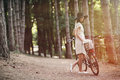 Girl On A Bicycle Royalty Free Stock Images - 44244419