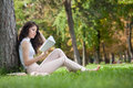 Woman Reading Book Royalty Free Stock Images - 44249549