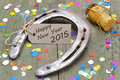 Horse Shoe As Talisman For New Year 2015 Royalty Free Stock Images - 44251309