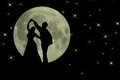 Dancing In The Moonlight Romantic Banner Stock Photo - 44251410