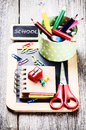 Colorful School Supplies Stock Photo - 44261850