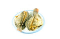 Fried Fish In Dish On White Background Royalty Free Stock Photo - 44266845