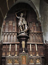 St Michael Statue In Abbey Mont Saint Michel Royalty Free Stock Photography - 44292847