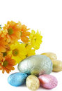 Colorful Wrapped Chocolate Easter Eggs Stock Photography - 4435892