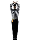 American Football Referee Gestures Personal Foul Silhouette Royalty Free Stock Photo - 44313405