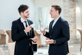 Coffee Break. Two Other Businessman Drinking Coffee And Talking Royalty Free Stock Photo - 44314255