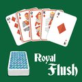 Poker Hand Royal Flush Stock Photography - 44323402