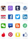 Social Networking Apps Icons Printed On Paper Royalty Free Stock Images - 44327629