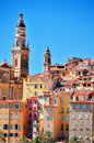 Old Town Architecture Of Menton On French Riviera Royalty Free Stock Photo - 44331785