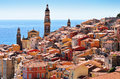 Old Town Architecture Of Menton On French Riviera Royalty Free Stock Photo - 44331825
