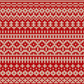 Christmas Seamless Knitted Pattern In Fair Isle Style Royalty Free Stock Photos - 44331918