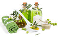 Spa Composition With Green Olive  Products Stock Photography - 44333212