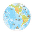 Old Navy Map. West Hemisphere. Royalty Free Stock Image - 44333726