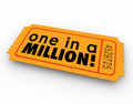 One In A Million Words Raffle Ticket Winner Game Luck Chance Stock Photos - 44341873