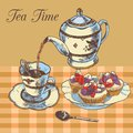 Teapot And Cup English Tea Royalty Free Stock Image - 44343796