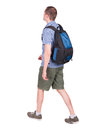 Back View Of Walking Man With Backpack. Stock Image - 44356731