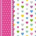 Hearts And Polka Dot Greeting Card Stock Photo - 44358120