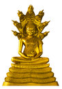 Buddha Image Statue With Naga Over Head Stock Image - 44359161