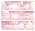 Sky And Bubbles Banners Royalty Free Stock Images - 44395529