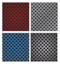 Set Of Seamless Circle Perforated Carbon Speaker Grill Texture V Royalty Free Stock Images - 44399269