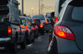 Traffic Jam With Many Cars On Express Way Royalty Free Stock Images - 44400139
