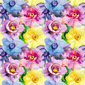 Seamless Patterns With Beautiful Flowers Stock Photography - 44400632