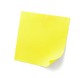 Yellow Sticky Note Stock Images - 44402134