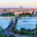Chain Bridge, Budapest Stock Image - 44410081